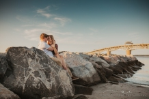 Couples session at Yorktown Beach by Richmond VA photographer Anika Colombo Photography